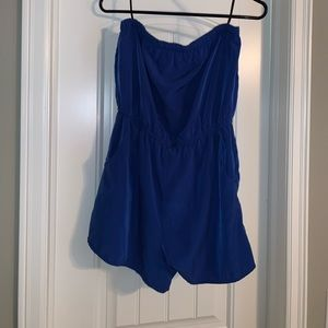Other - Blue strapless romper with pockets worn twice